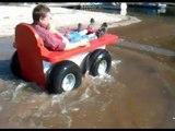 Umweltfreundlich emissionsfrei Fahrspaß am Strand Elektro Amphibien Freizeit Fahrzeug SplashCar