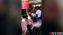 New Brawl !! Again Black Teens fight in NY McDonald's