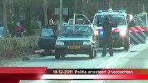 Politie Arrestatie in Barendrecht: Arrestatie met getrokken pistool ( pistolen ) 10-12-2011