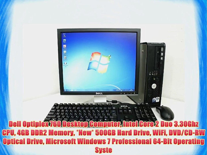 Dell Optiplex 760 Desktop Computer Intel Core 2 Duo 3 30Ghz CPU 4GB DDR2  Memory *New* 500GB