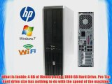 HP DC7800 Desktop - Core 2 Duo 3.0GHz - *NEW* 1TB 7200RPM HDD - 4GB RAM - WIFI - Featuring