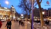 Plaza Catalunya y Café Zurich en Barcelona