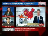 What a Welcome !! China State TV Shows Indian Map without Kashmir & Arunachal Pradesh.