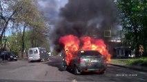 Ne pas fumer dans une voiture à coté d'une bouteille de gaz