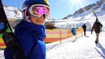 Kelly Sildaru 10 year old skier goes to the European Winter X Games but too young to compete