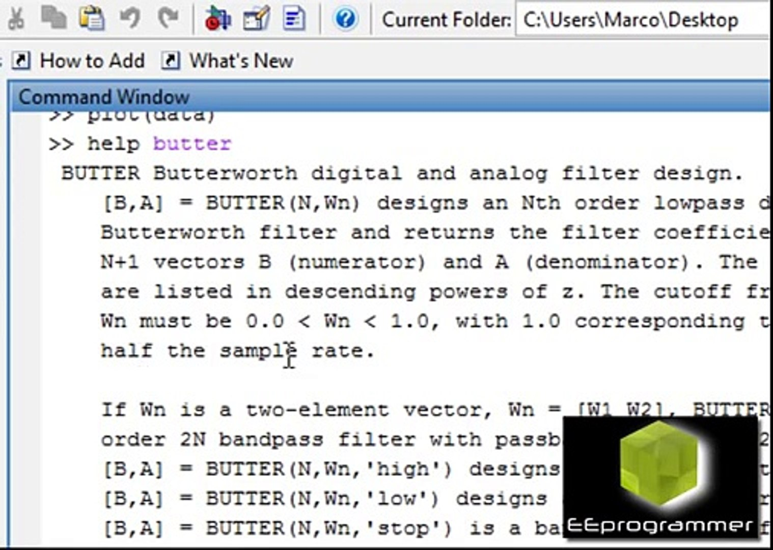 MATLAB tutorial: Noise Cancellation and simple Butterworth filter design