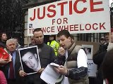 Protest for Terence Wheelock and John Moloney