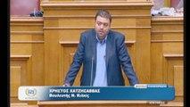Ομιλία Χατζησάββα στη Βουλή για την πρωτογενή παραγωγή