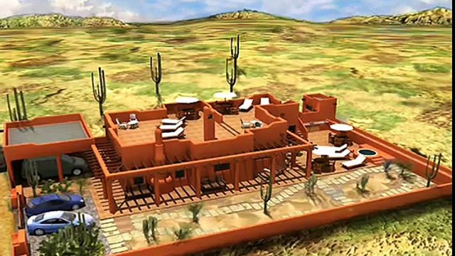 planos de casas Modelo Estilo Santa Fe 2 Arquimex Planos de Casas