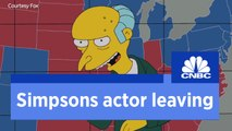 Voice of Mr Burns leaves 'The Simpsons'