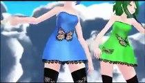 MMD Luvoratorrrrry! Butterfly Miku, Gumi, Neru, Luka   MMD·3D   MioMio弹幕网    ^ω^你是我的Master吗   miomio