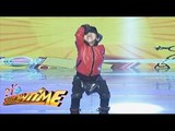 Michael Jackson MiniMe does the Moon Walk dance