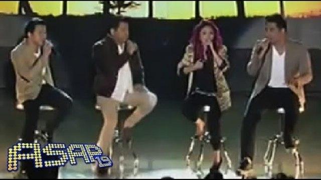 Martin, Jed, Erik & Yeng sing Katy Perry's 'Roar' in ASAP