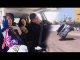 Kris experiences the car drifting stunts