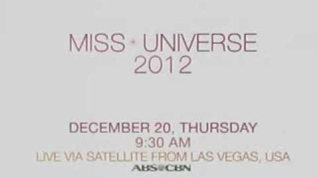 MS. UNIVERSE 2012 on ABS-CBN!