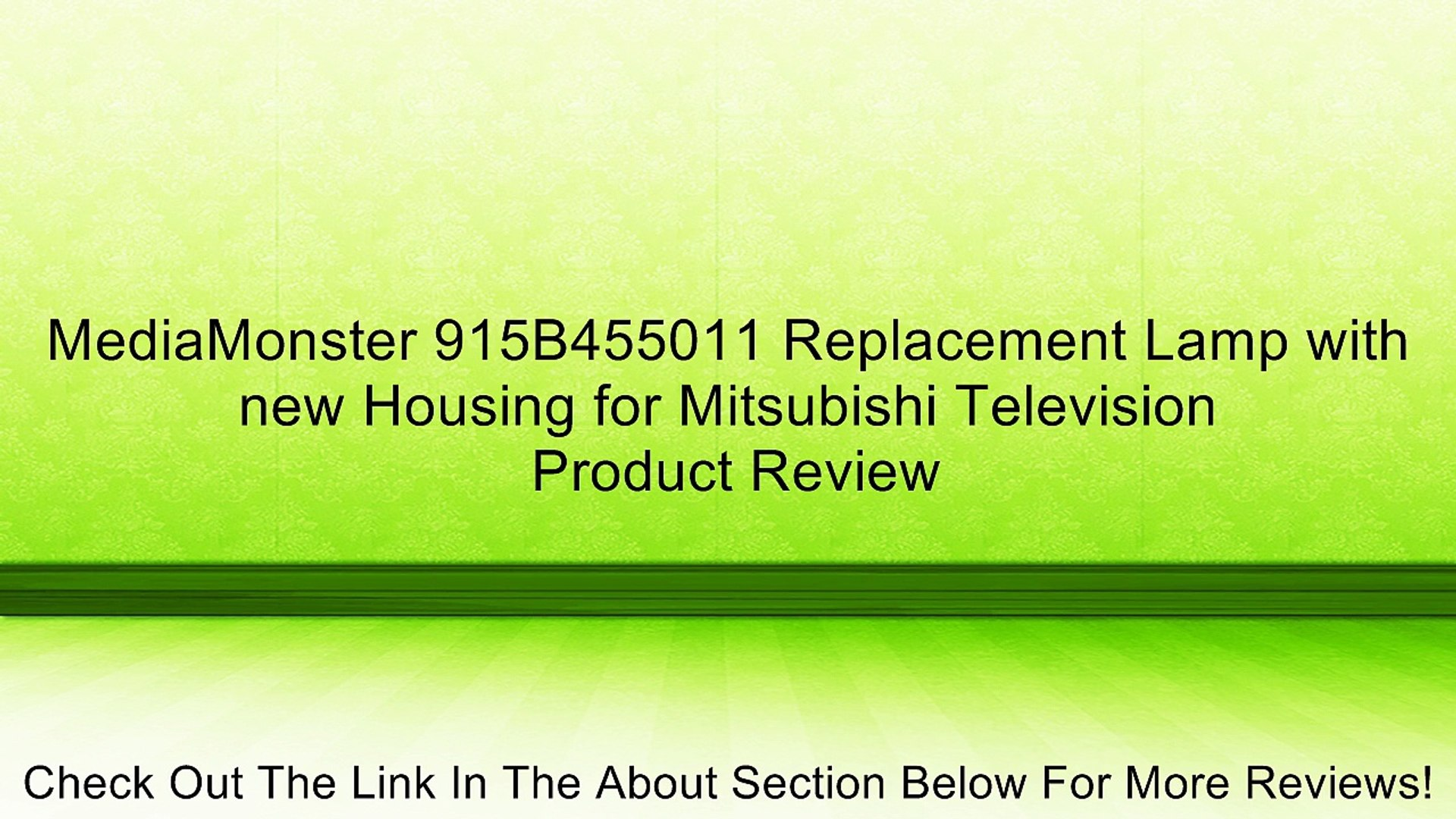 WD-73740 WD73740 915B455011 Philips Original Mitsubishi DLP Projection TV Lamp