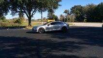 Burnout Brothers: 2013 Tesla Model S P85 vs  1968 Pontiac Firebird 400 Convertible