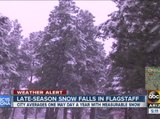 Snowplows out in mid-May for Flagstaff snow