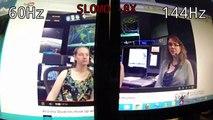 60hz Monitor vs 144hz Monitor - video dailymotion