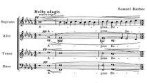 Barber - Agnus dei (with sheet music)
