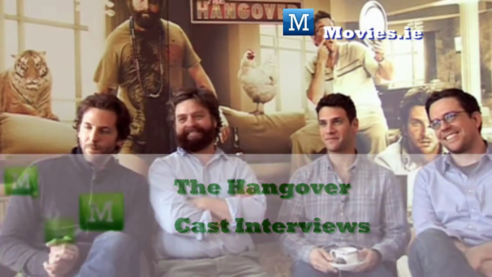 The Hangover - Cast Interviews, Bradley Cooper, Justin Bartha, Zacg Galifianakis Ed Helms