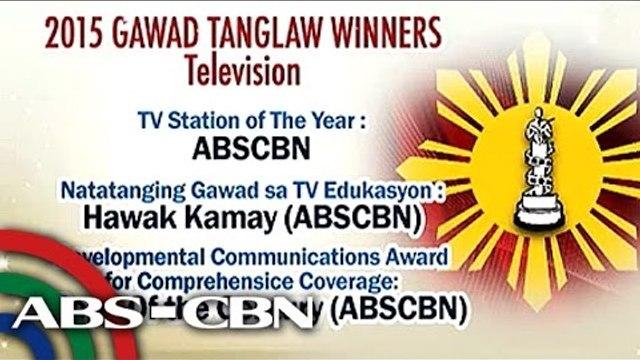 ABS-CBN wins big at 2015 Gawad Tanglaw