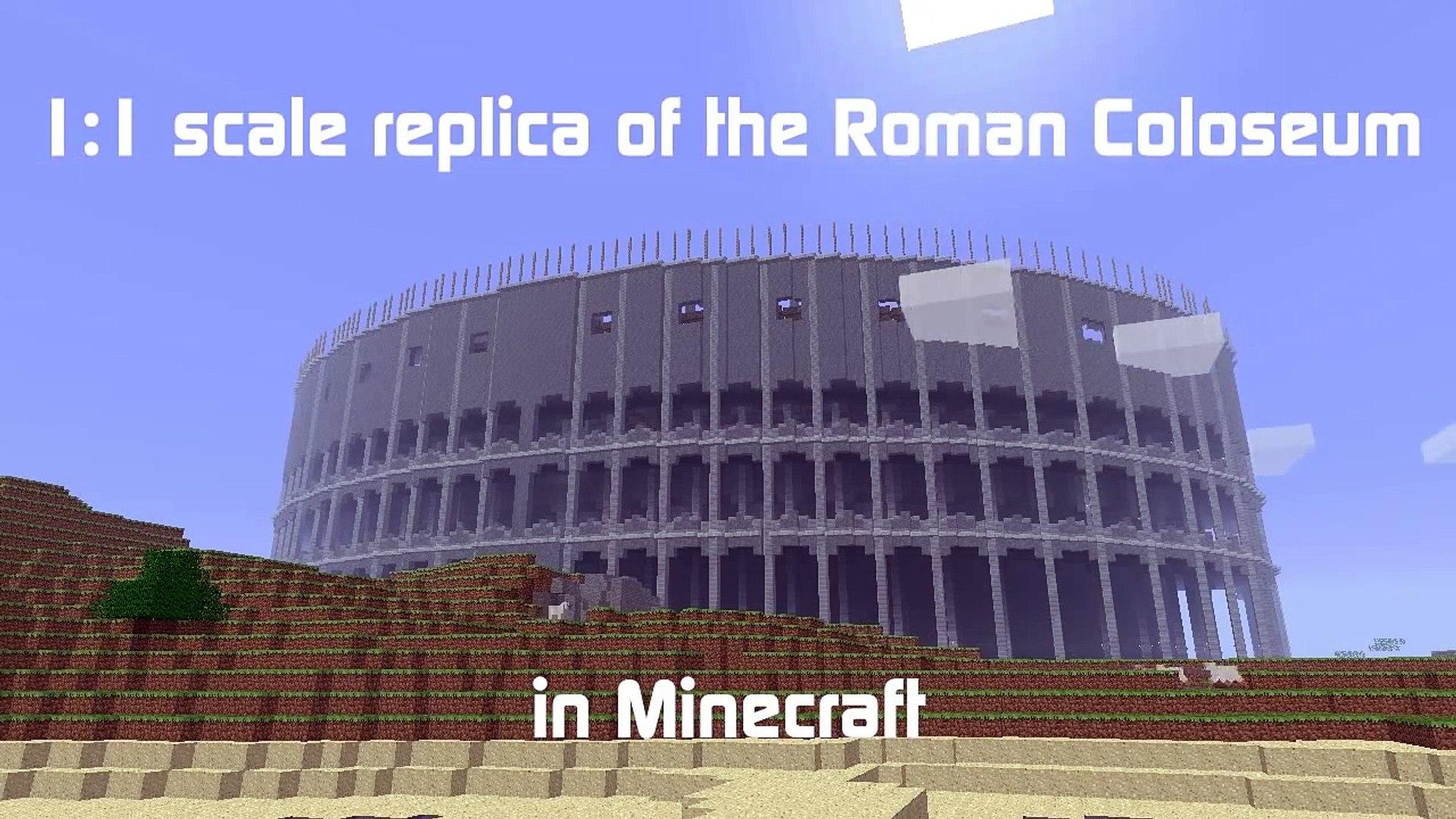 1:1 Replica of Roman Colosseum in Minecraft Beta