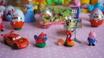cars 2 kinder surprise eggs Play Doh spiderman Peppa pig disney egg surprise toys playdoh ABC Alphabet Cartoon Games