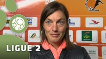 Conférence de presse Stade Lavallois - Clermont Foot (3-1) : Denis ZANKO (LAVAL) - Corinne DIACRE (CF63) - 2014/2015