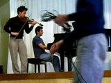 Jennen Ngiau-Keng & Amir Farid rehearse Monti Czardas for violin and piano 2006