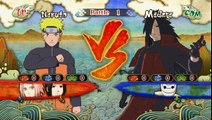 Naruto Shippuden Ultimate Ninja Storm 3 : Naruto , Sakura and Sasuke VS Madara and Tobi