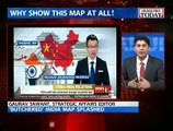 What a Welcome !! China State TV Shows Indian Map without Kashmir & Arunachal Pradesh, Indian media cries