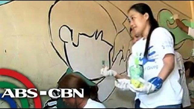 Call center agents, tumulong maglinis ng eskwelahan