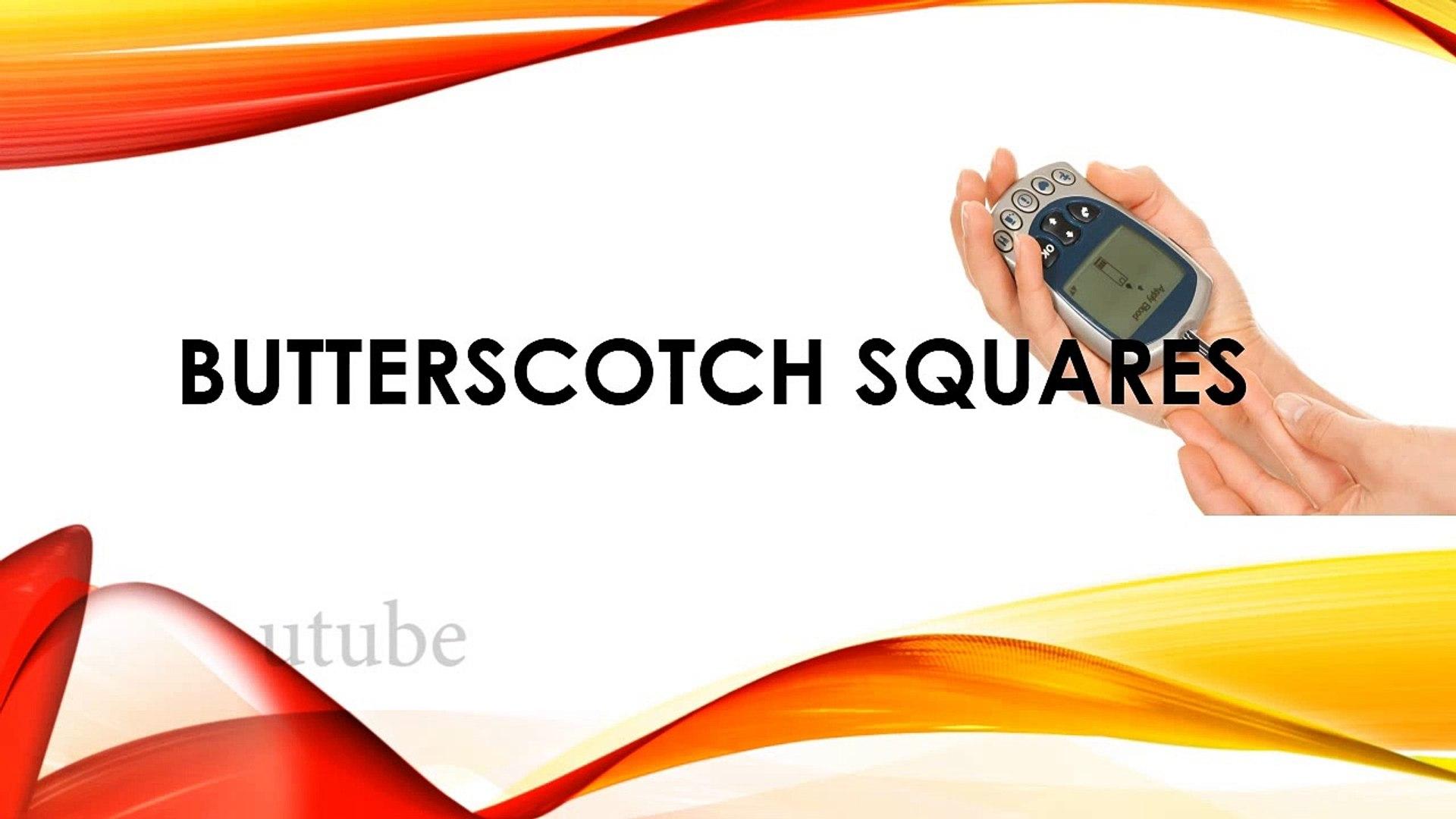 Butterscotch Squares - Butterscotch Recipes - Diabetic Recipes