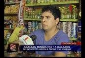 Chorrillos: dos personas fueron baleadas en asalto a minimarket