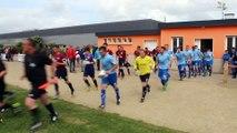 14/05/2015 : l'entrée des joueurs sur le terrain. Encouragement des supporters.