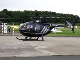 Hughes 500c Helicopter TakeOff