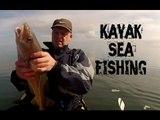 Kayak Fishing - Kayak Sea Fishing off Skinningrove UK in an Ocean Kayak - GoPro