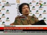Entrevista Muammar Al-Qaddafi Presidente de Libia TeleSUR 01/10/2009 2/2