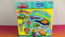 Play Doh Scoops 'N Treats Ice Cream Cones, Popsicles, Scoops, Sundaes and Play-Doh Waffle Cones