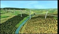 Dailymotion   Viaduc de Millau   Construction 3D   une vidéo High tech et Science