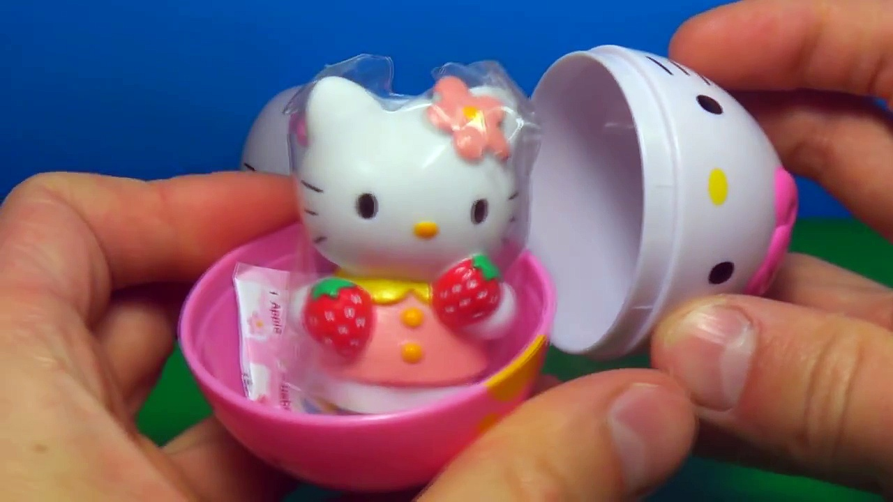 3 Hello Kitty surprise eggs! HELLO KITTY HELLO KITTY HELLO KITTY!