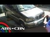 Gulong ng AUV nahulog sa bukas na kanal sa QC