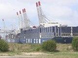 Illustration Le CMA CGM Kerguelen baptisé au Havre