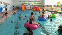 Des structures gonflables dans la piscine du CCST