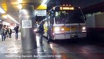 TheMBTADog: MBTA Harvard - Square, Dawes Island, Tunnel - Buses and Trackless Trolleys (2013-12)