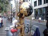 Street artists on the Ramblas - Barcelona Spain