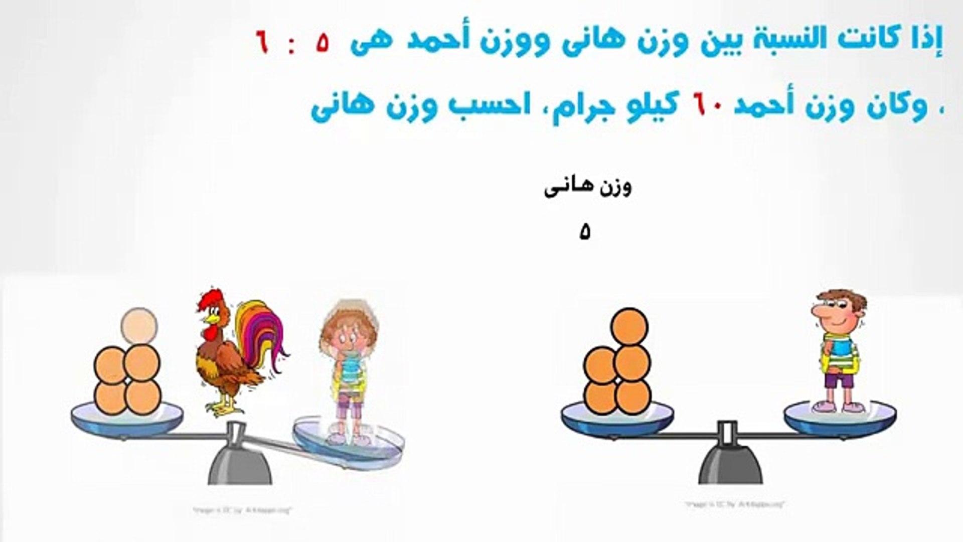 تدريبات متنوعة على النسبة وخواصها - رياضيات - للصف السادس الإبتدائي - ج1 - موقع نفهم - موقع نفهم