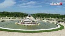 Château de Versailles : l'eau rejaillit dans le bassin de Latone