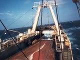 barcos arrastreros y mercantes ,trabajando en la mar  . working in the sea